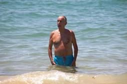 Marcelo Rebelo de Sousa durante as férias, em 2019