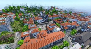 Ilha da Madeira reproduzida no jogo 'Minecraft'