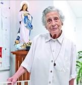 A irmã Ângela Lopez no Centro Social e Paroquial São João Evangelista