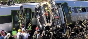 Comboio embateu contra uma dresina de manutenção de via