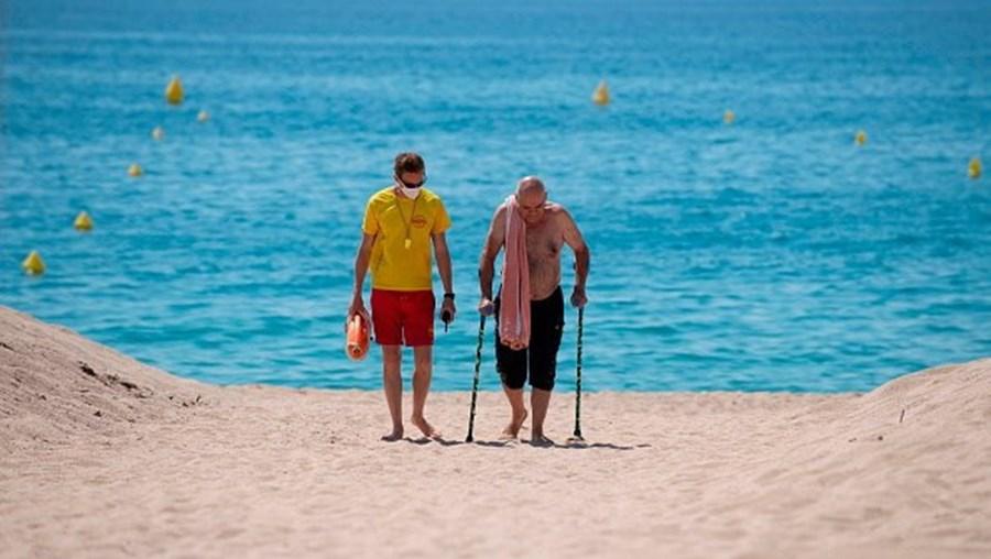 Praia em Espanha