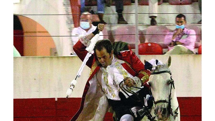 João Moura Caetano em Estremoz, a primeira corrida da temporada