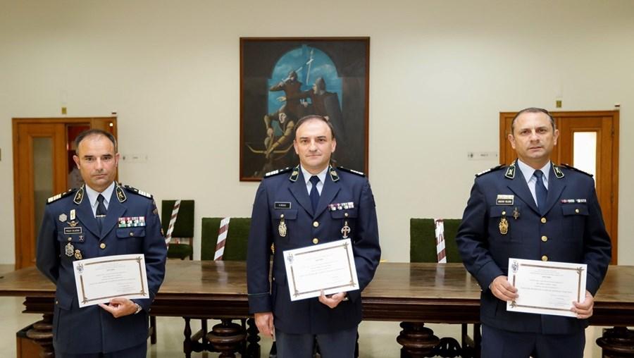 Coronéis Paulo Silvério, António Bogas e Rui Veloso terminaram a formação