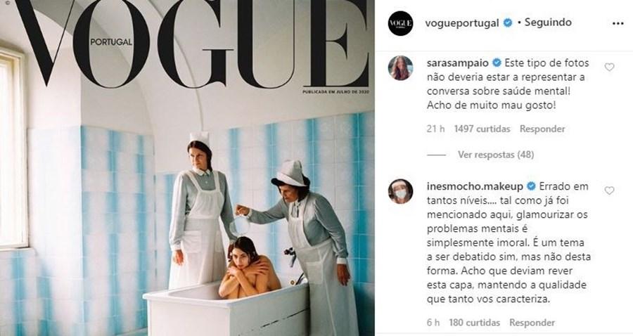 Capa da Vogue Portugal sobre saúde mental arrasada no estrangeiro