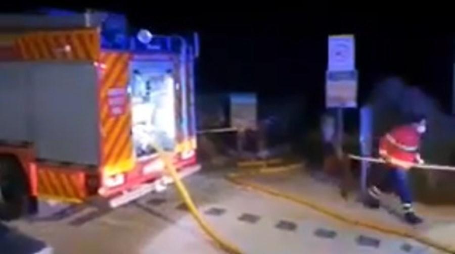 Incêndio em restaurante em Portimão