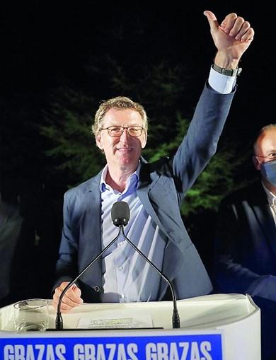 Alberto Nuñez Feijóo dominador na Galiza