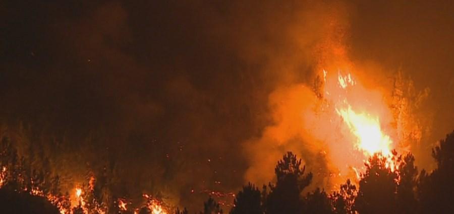 Incêndio na Covilhã ameaça aldeia de Sobral de São Miguel