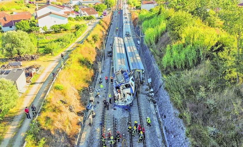 Linha com 300 metros destruídos