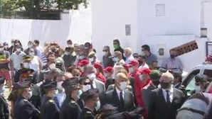 Marcelo presente no funeral do bombeiro que morreu no combate às chamas em Castro Verde