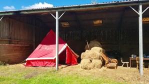 Turistas pagam mil euros por semana para dormir em tenda num palheiro