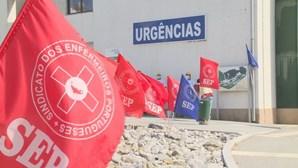 Sindicato dos enfermeiros portugueses protesta junto ao hospital da Guarda