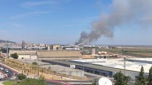 Bombeiros combatem chamas em Alverca junto às instalações da Força Aérea. Veja as imagens