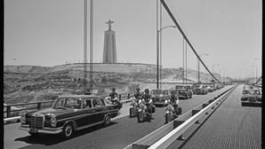 A ponte que une Lisboa a Almada foi inaugurada a 6 de agosto de 1966, há 54 anos