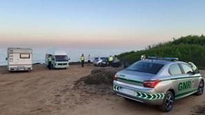 GNR deteta 58 infrações de campismo e caravanismo ilegal na costa vicentina