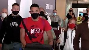 Gilberto, o novo reforço do Benfica, já está em Lisboa