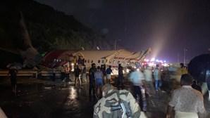 Pelo menos 17 mortos em acidente de avião na Índia com 191 passageiros a bordo