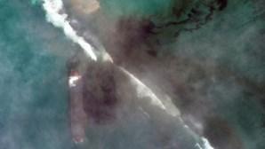 Imagens mostram evolução do derrame de petróleo na ilha Maurícia