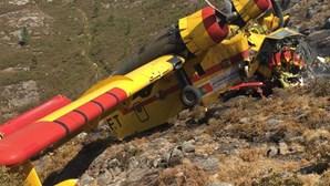 Piloto português de 65 anos morre em queda de canadair no Gerês