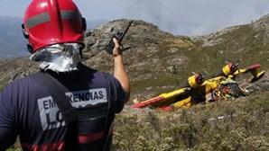 As imagens do canadair que caiu a combater um incêndio no Gerês