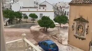 Tromba de água, granizo e rajadas de vento causam destruição na Andaluzia