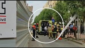 Operário ferido ao cair de grua em Espinho
