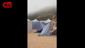 Praia da Nazaré alvo de vandalismo