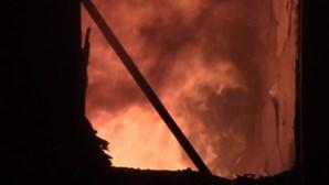 Família salva de um incêndio ao ser resgatado de 9.º andar em Lisboa