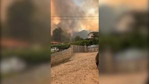 Chamas ameaçam casas em Cabeceiras de Basto
