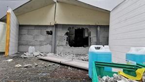 Ladrões fazem buraco na parede para chegar a cofre de supermercado em Gaia
