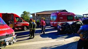 Despiste violento em Guimarães faz quatro feridos