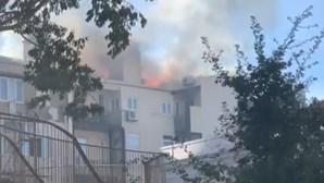 Prédio em Campo de Ourique sem condições de habitabilidade após incêndio