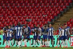 Jogadores do FC Porto festejam na final da Taça de Portugal