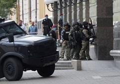 Ameaça de bomba em banco de Kiev, na Ucrânia