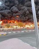 Incêndio consome mercado de frutas e legumes nos Emirados Árabes Unidos