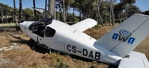Avioneta aterra de emergência no campo de golfe dos Oitavos em Cascais