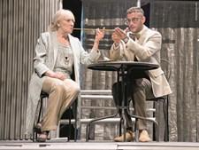 Na peça 'Gangsters na Broadway' (2016), com Pedro Barroso