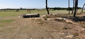 Asa esquerda foi arrancada e ficou no campo de golfe