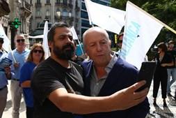 Santana Lopes numa ação de campanha para as Legislativas, em 2019