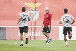 Jorge Jesus arranca primeiro dia no Benfica com apertão aos jogadores