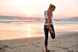 Exercício físico na praia