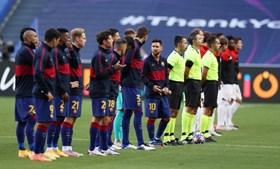 Barcelona e Bayern antes da partida começar