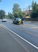 Condutor despista-se ao tentar tirar aranha de dentro do carro