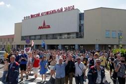 Manifestações contra presidenciais na Bielorrússia juntam centenas frente a fábricas e à TV pública