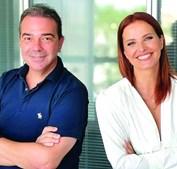 Nuno Santos, diretor-geral da TVI, e Cristina Ferreira, diretora de Entretenimento e Ficção