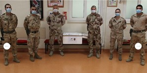 Militares portugueses entregam 200 'kits' de colheita para testes à Covid-19 no Afeganistão