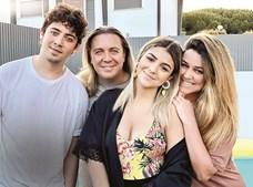 Bárbara Bandeira com a família