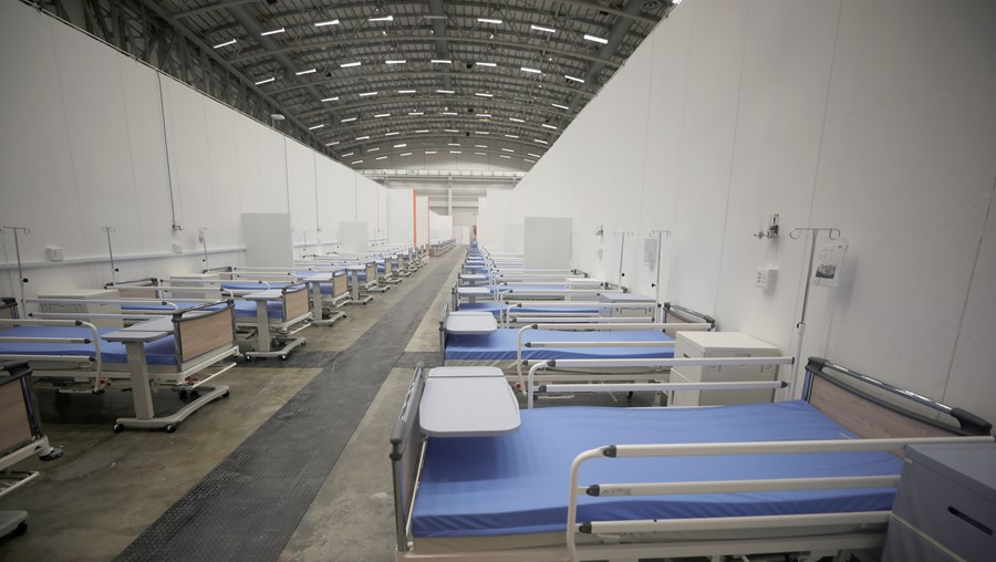 Hospital para doentes Covid-19, em África