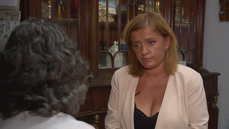 Gracinda deu uma entrevista à jornalista da CMTV Tânia Laranjo, onde relatou os abusos físicos de que foi vítima ao longo dos últimos 40 anos