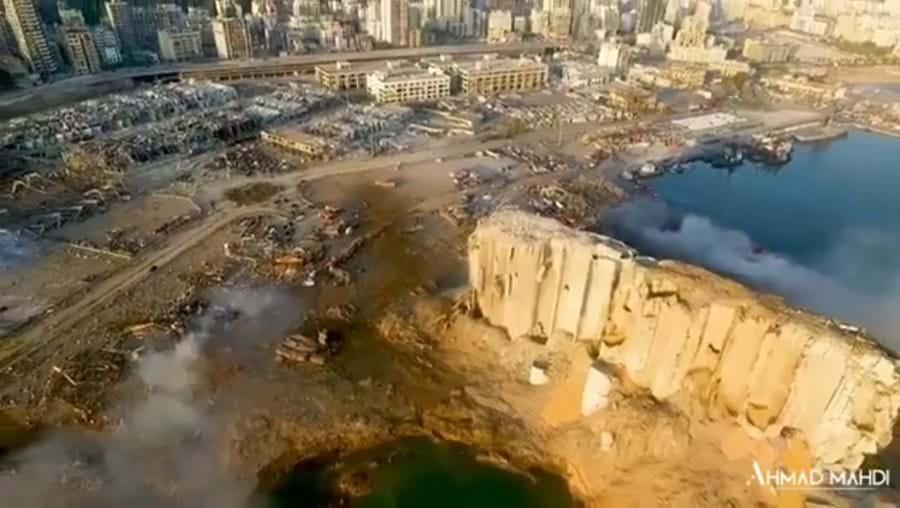 Imagens de drone mostram estragos causados pelas explosões em Beirute