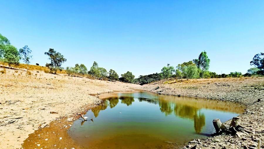 A barragem da Vigia, no Redondo, é uma das que estão com menos água neste verão
